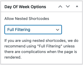 Graphic showing filtering options for nested shortcodes
