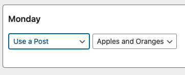 """Graphic showing the """"Use a Post"""" option."""